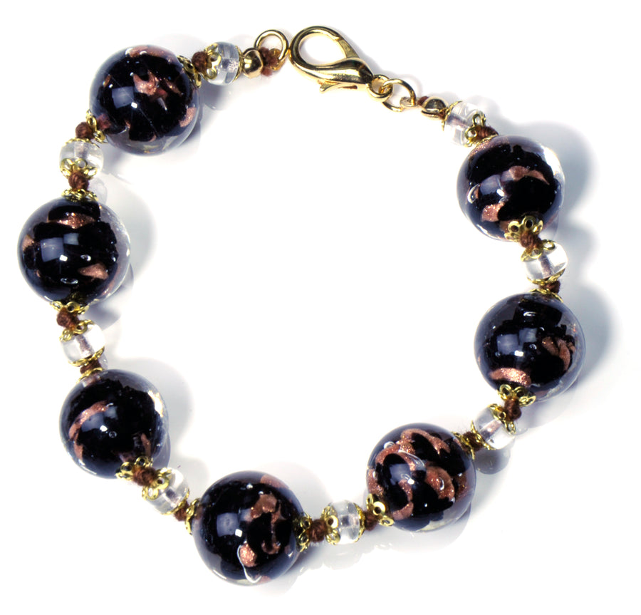 Babette Murano Glass Jewelry Set - Black