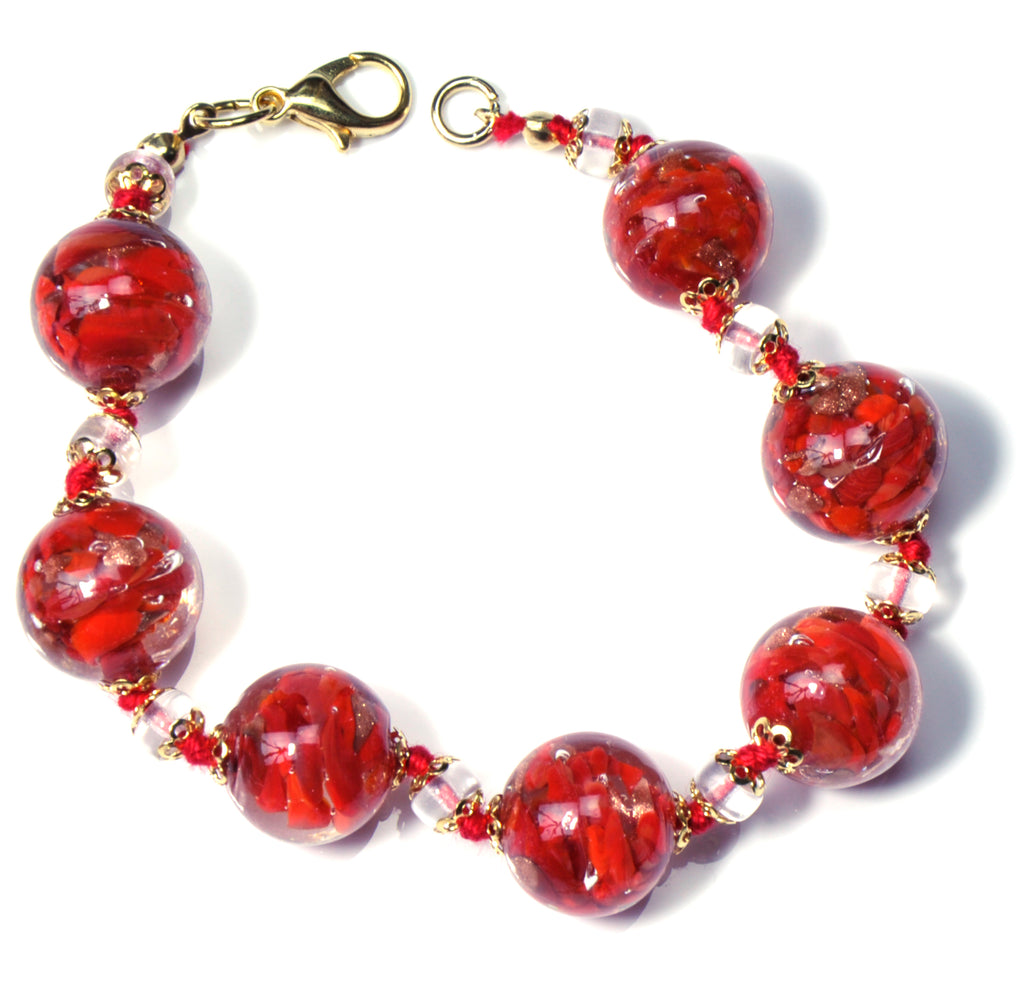 Babette Murano Glass Jewelry Set - Red