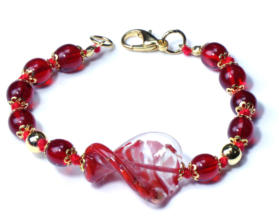 Asol Murano Glass Jewelry Set - Red