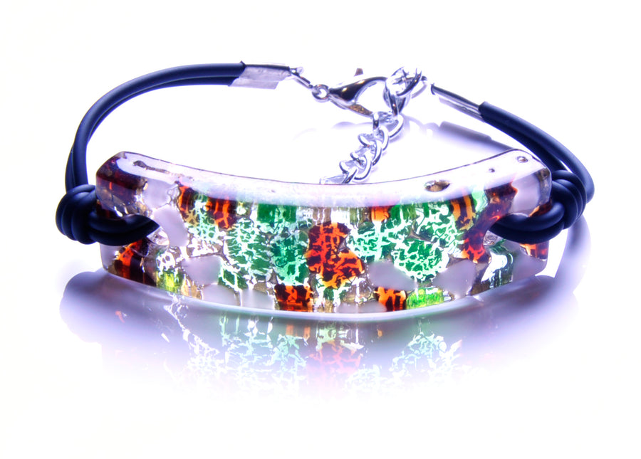 MURANO GLASS BRACELET GREEN