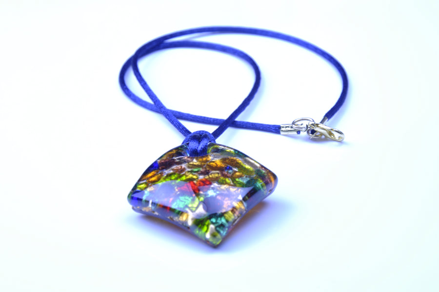 MURANO GLASS 2 PIECE JEWELRY SET BLUE RUMBLE