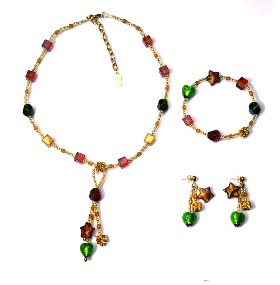 Caravella Murano Glass Jewelry Set