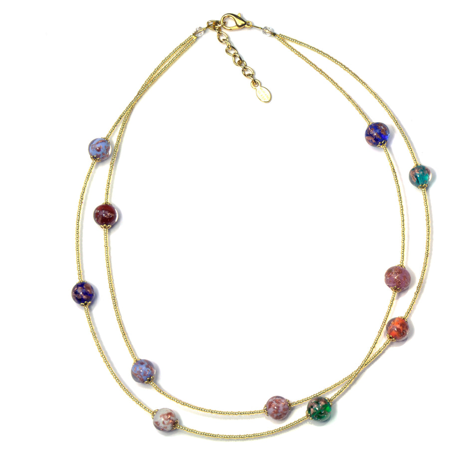 Jessy Murano Glass Necklace - 45 cm/17.5""
