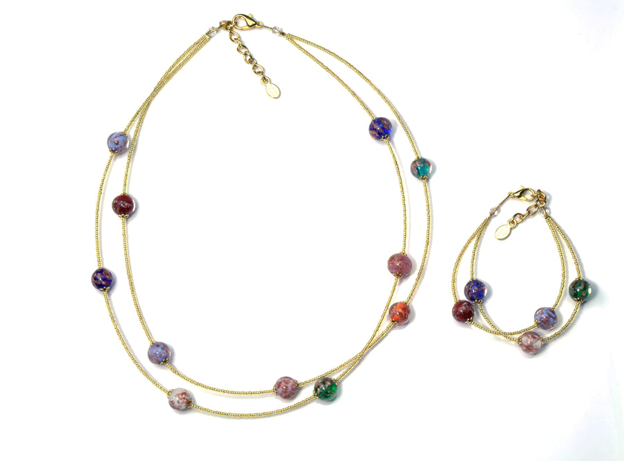 Jessy Murano Glass Jewelry Set