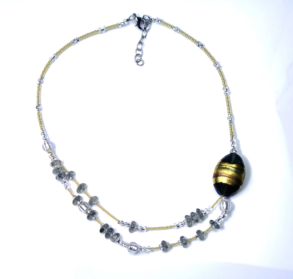 Ida Murano Glass Necklace, 45 cm/17.5""