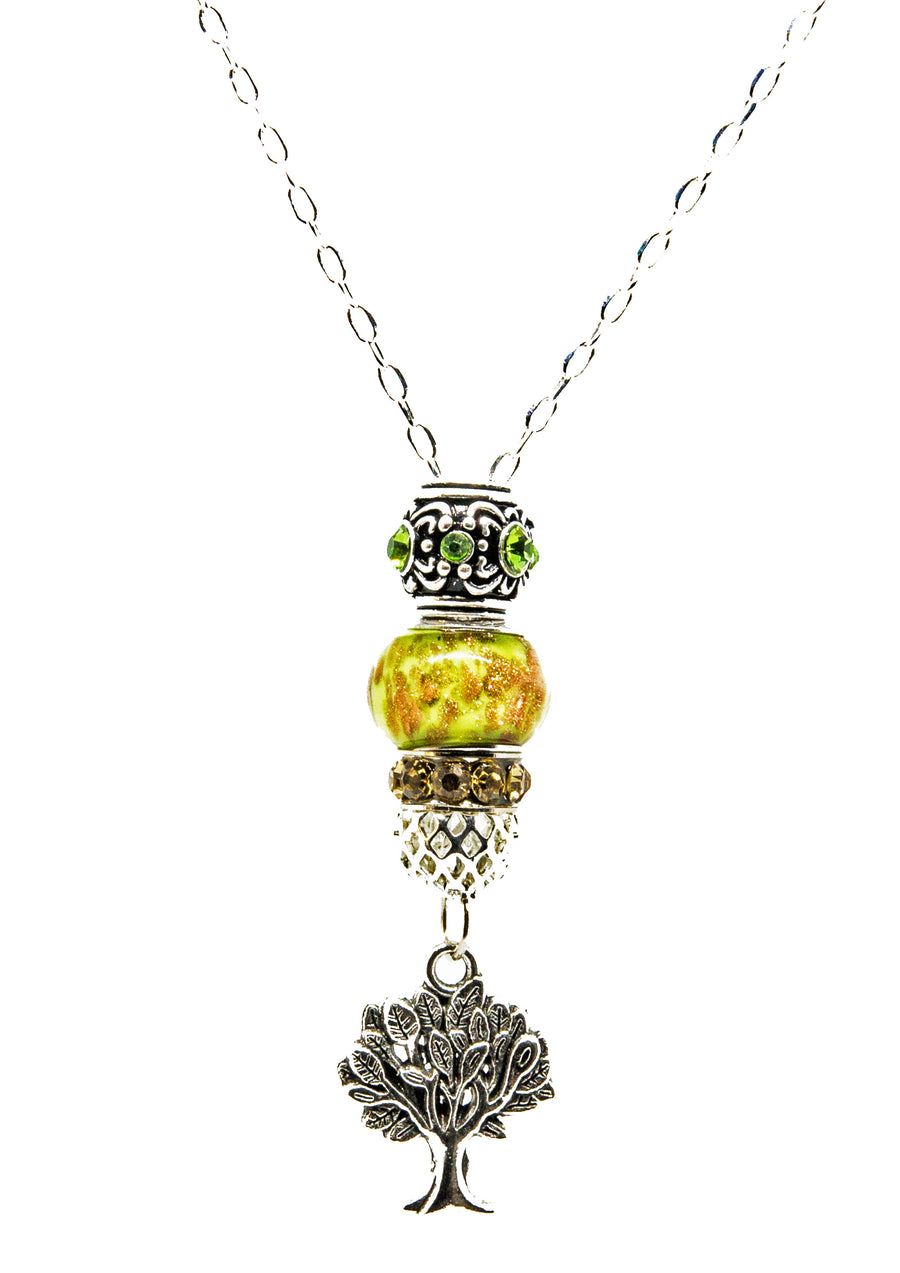 Pandora Style Murano Glass Pendant - Tree of Life