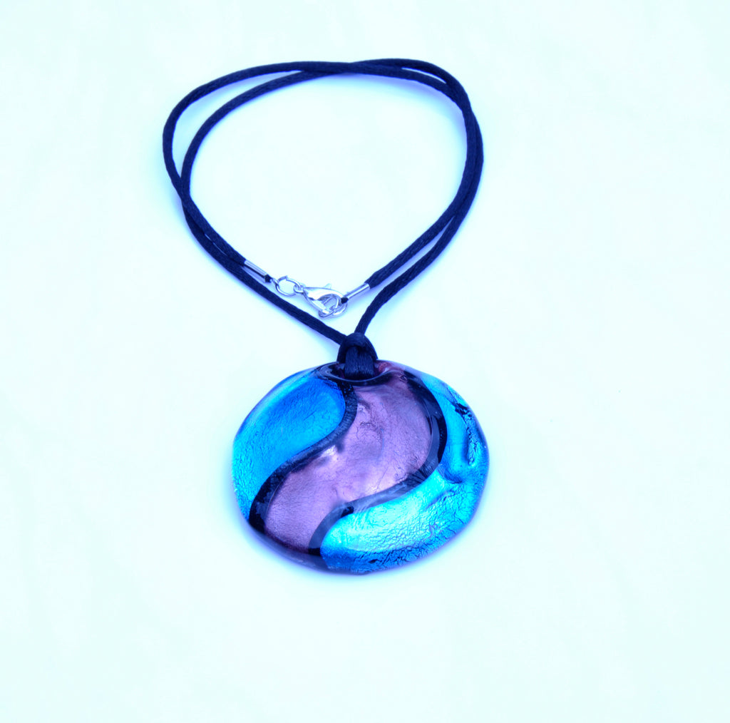 MURANO NECKLACE FANTASY COLORS IN ROUND SHAPE - BLUE