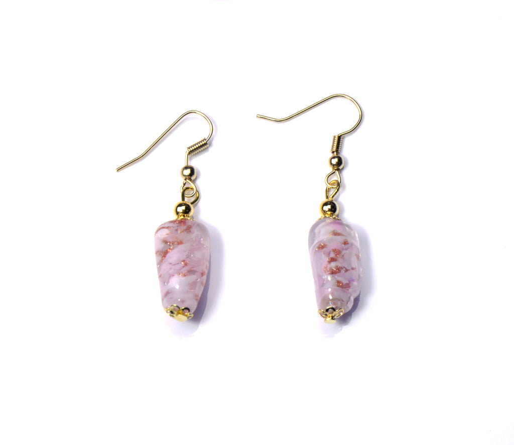 Aly Murano Glass Jewelry Set - Pink