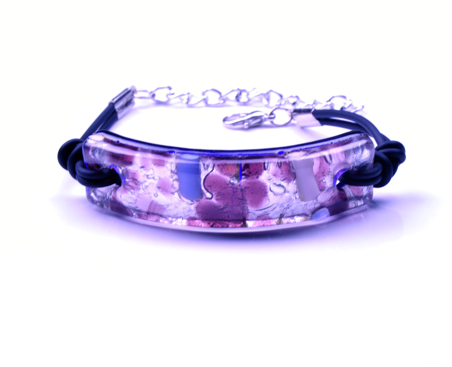 MURANO GLASS BRACELET PURPLE