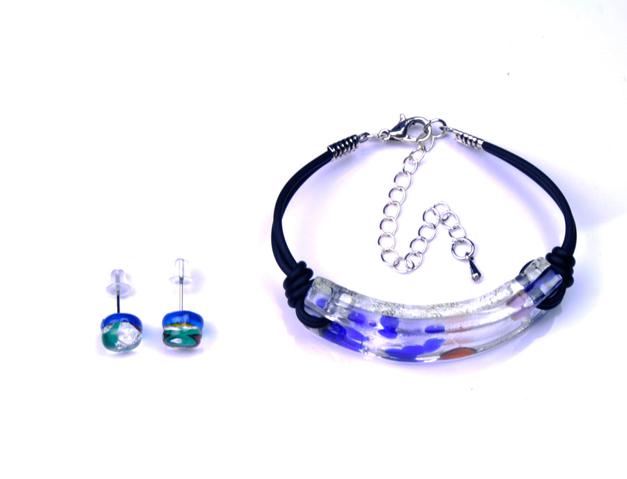 MURANO GLASS 2 PIECE JEWELRY SET