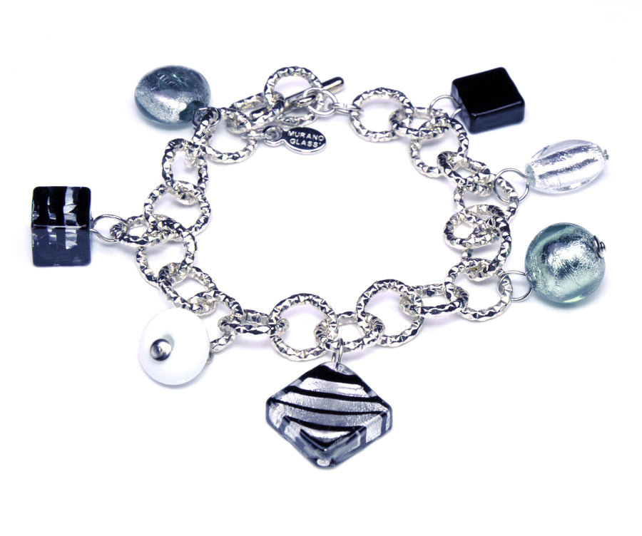 Charms Murano Glass Bracelet