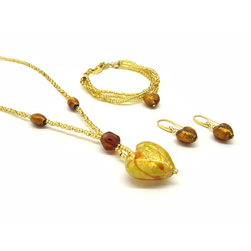Giulia Murano Glass Jewelry Set