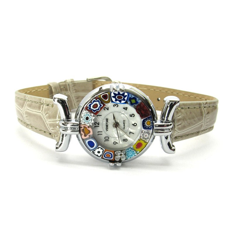 Murano Millefiori Watch - Grey