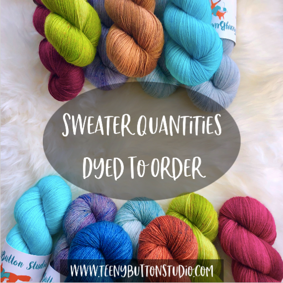 Sweater Quantity of Soft Sock - Dyed To Order