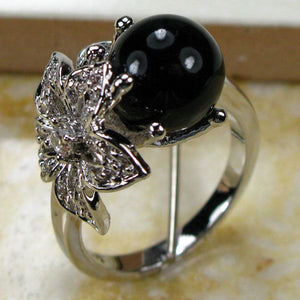 Black Perl Ring