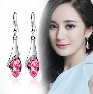 Swarovski crystal drop earrings (different colors)