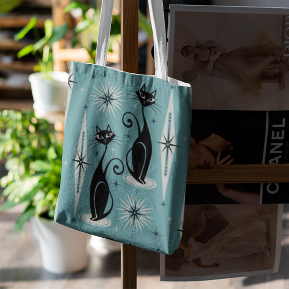 Teal shopping bag