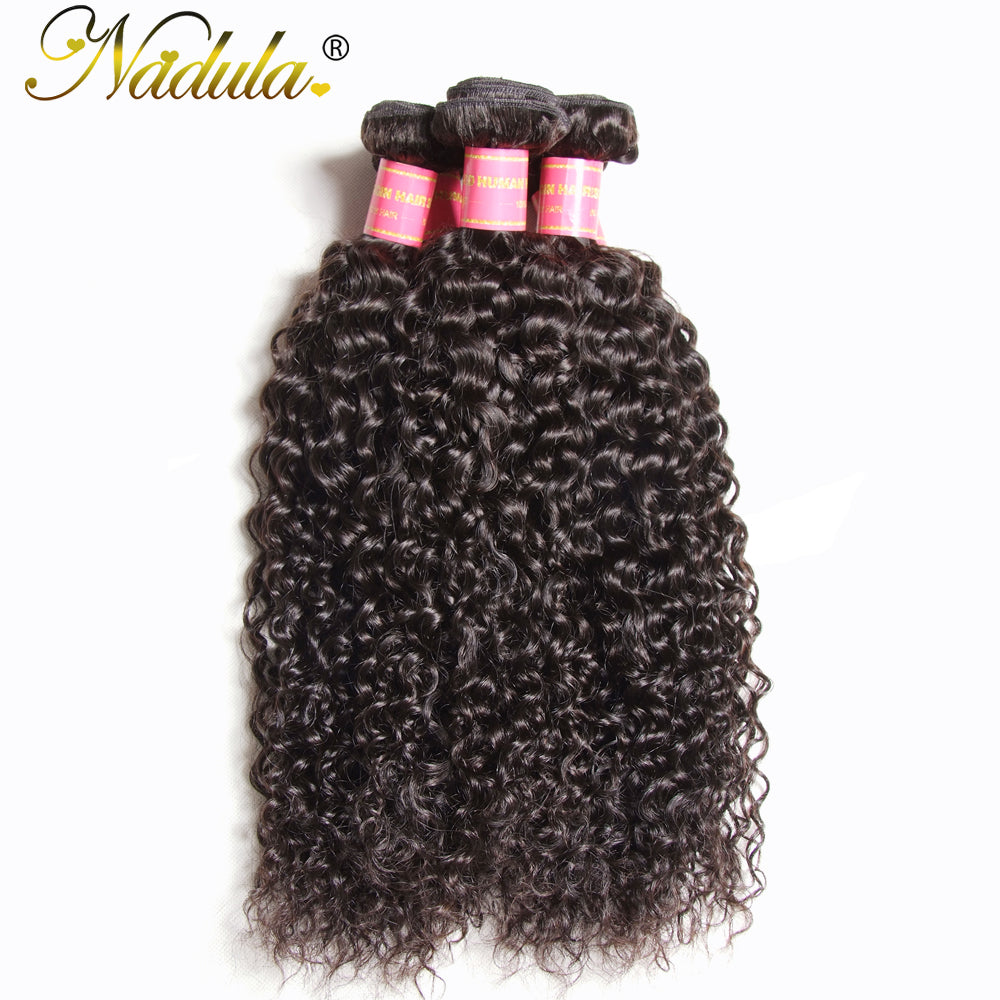 Nadula Hair Malaysian Virgin Hair Curly Weave Human Hair Extensions