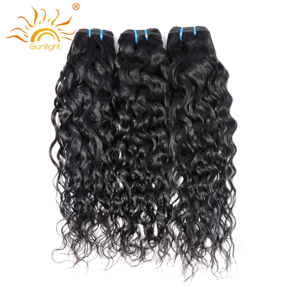 Indian Water Wave Human Hair Extensions 8 28 Natural Black 1 Piece