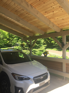 Abris d'auto timber frame carport Mecky Elegance