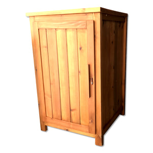 Large wooden wooden parcel box Mecky Elegance-white