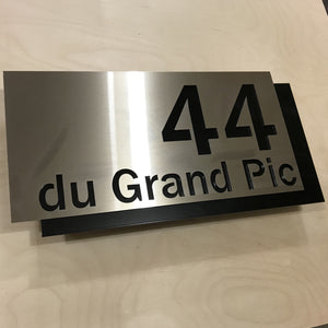 Plaque Adresse DeCal Mecky Elegance