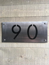 Plaque d'adresse en inox à auto-collants