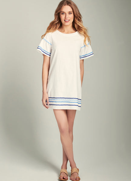 Brooke Rick Rack Trim Shift Dress