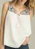 Alessandra Embroidered Top with Tassel Trim