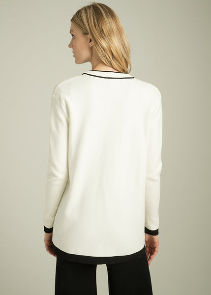 Angelica Classic Tipped Cardigan