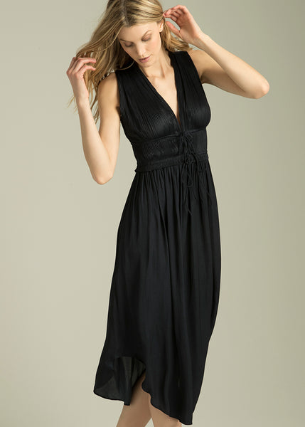 Austin Plunging V-Neck Midi Dress