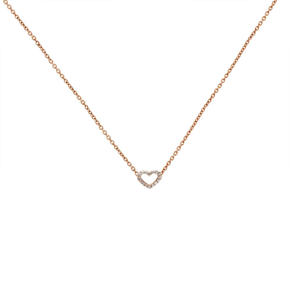 Minnos Diamond Heart Necklace