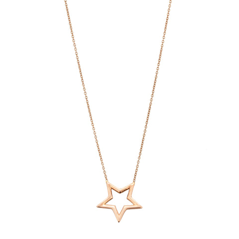 Medallion Wire Star Small Size Necklace
