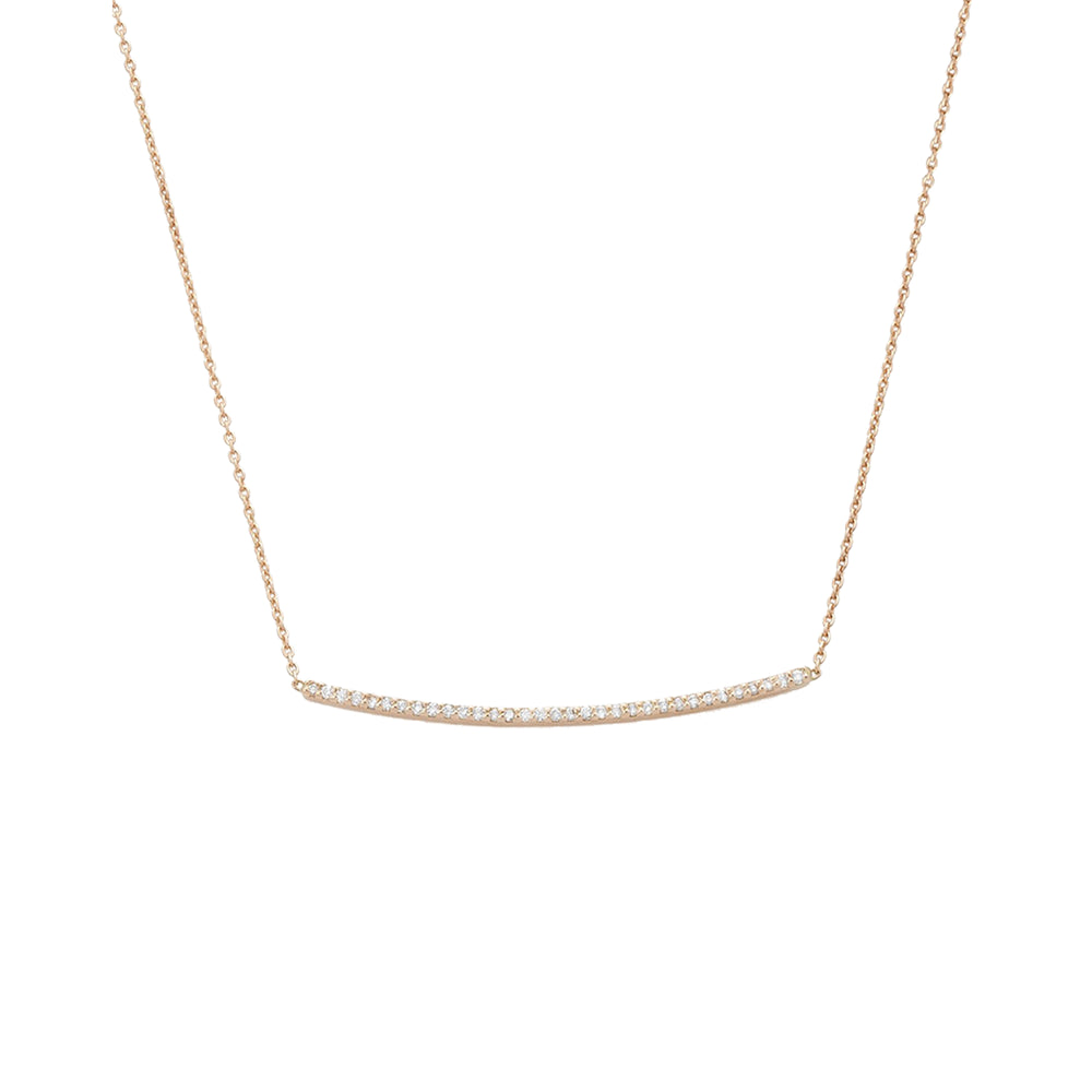 Lumiere Bar Medium Necklace - White Diamond
