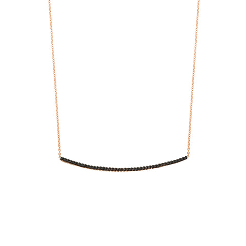 Lumiere Diamond Bar Necklace- Medium