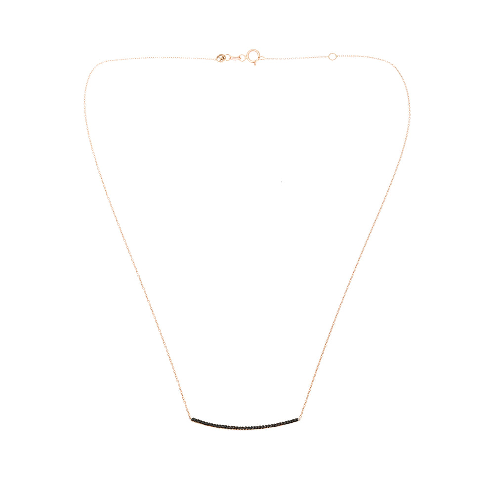 Lumiere Diamond Bar Necklace (Medium) - Black Diamond