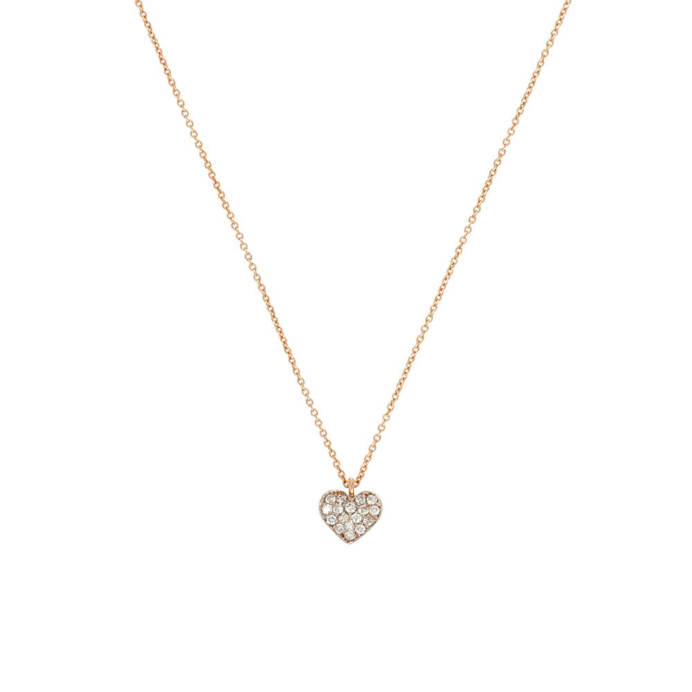 Bidik Heart Necklace - White Diamond
