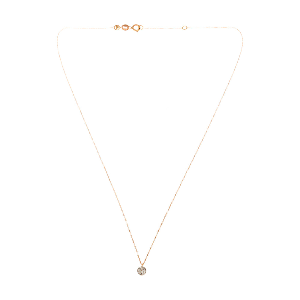 Bidik Disc Necklace - White Diamond