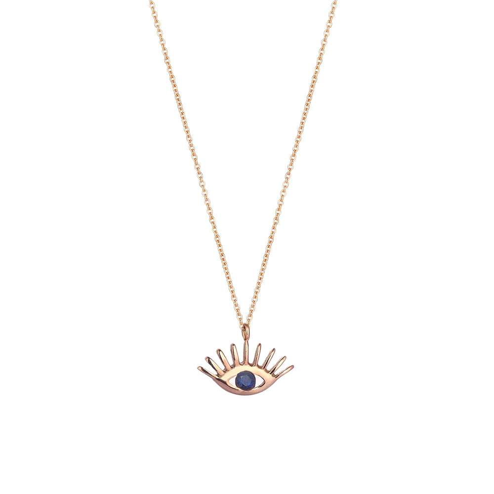 Evil Eye Necklace - Sapphire
