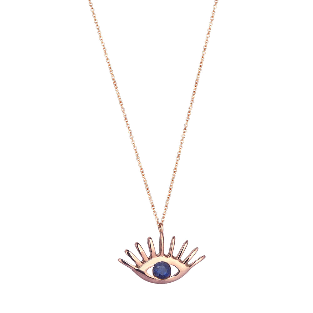 Evil Eye Big Necklace - Sapphire