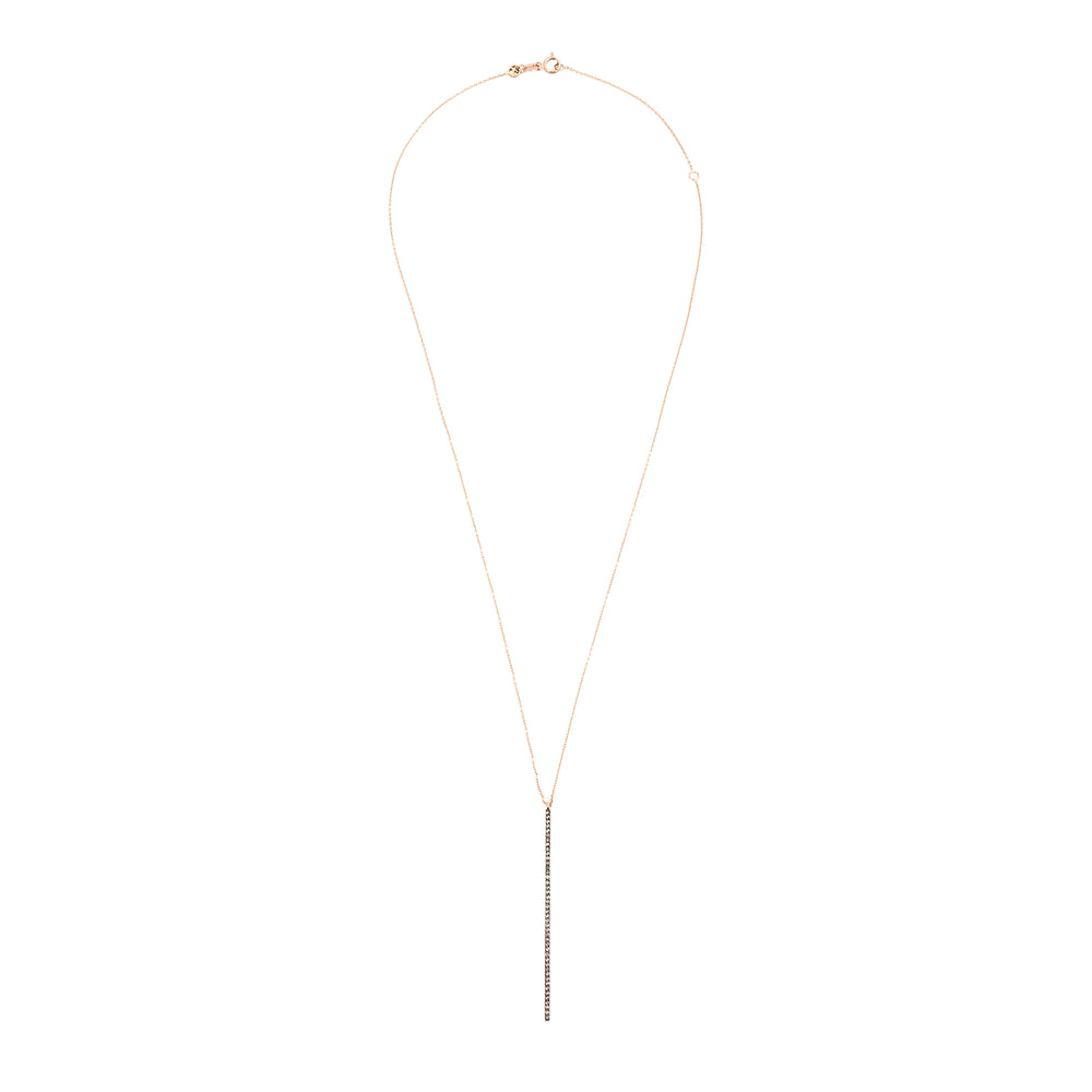 Lumiere Stick Long Necklace - Champagne Diamond