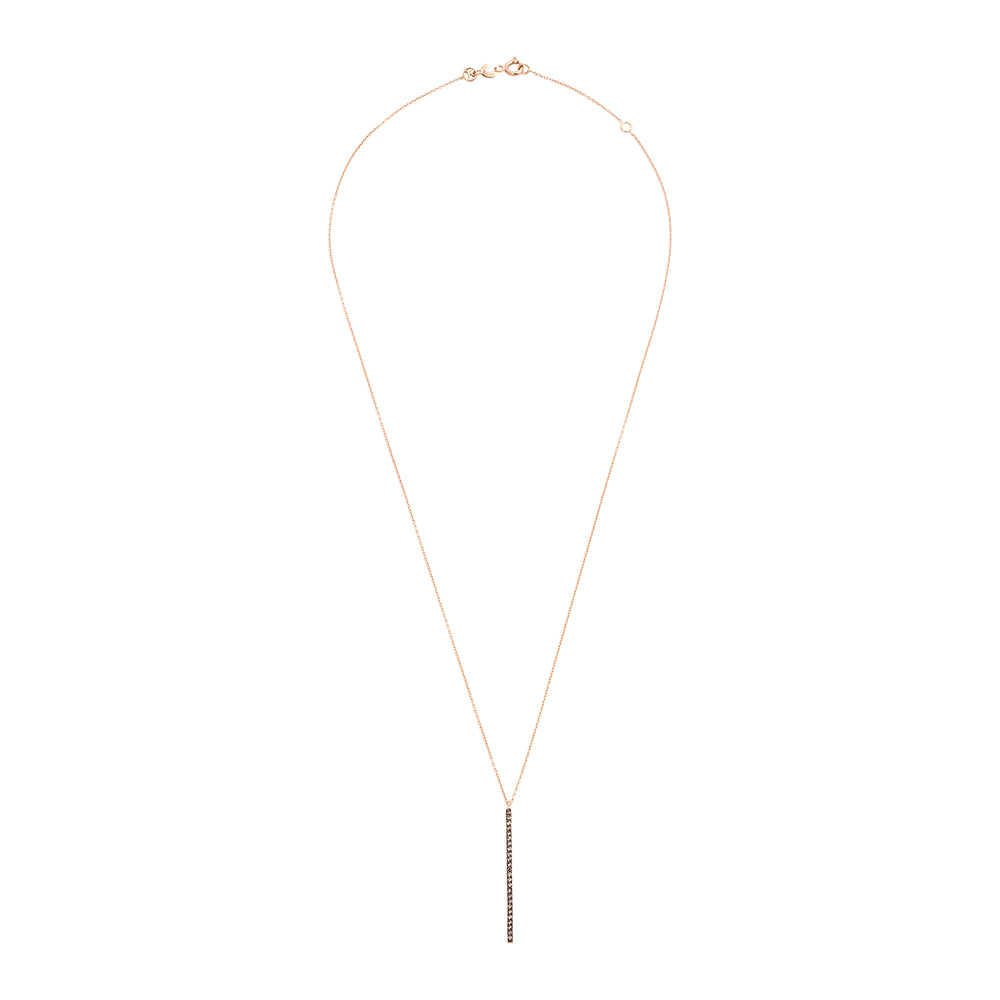Lumiere Stick Short Necklace - Champagne Diamond