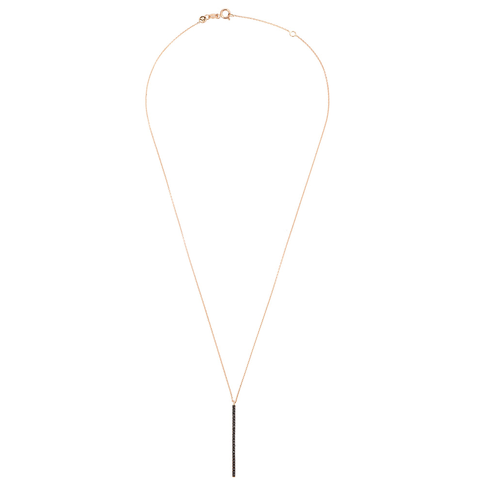 Lumiere Diamond Stick Necklace - Black Diamond