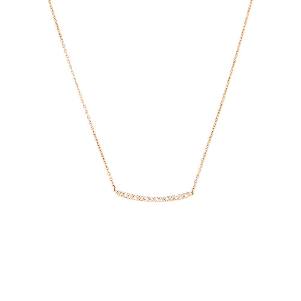 Lumiere Bar Small Necklace - White Diamond