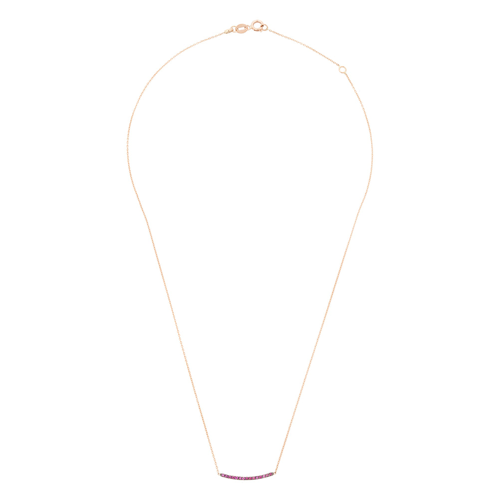 Lumiere Diamond Bar Necklace (Small) - Ruby