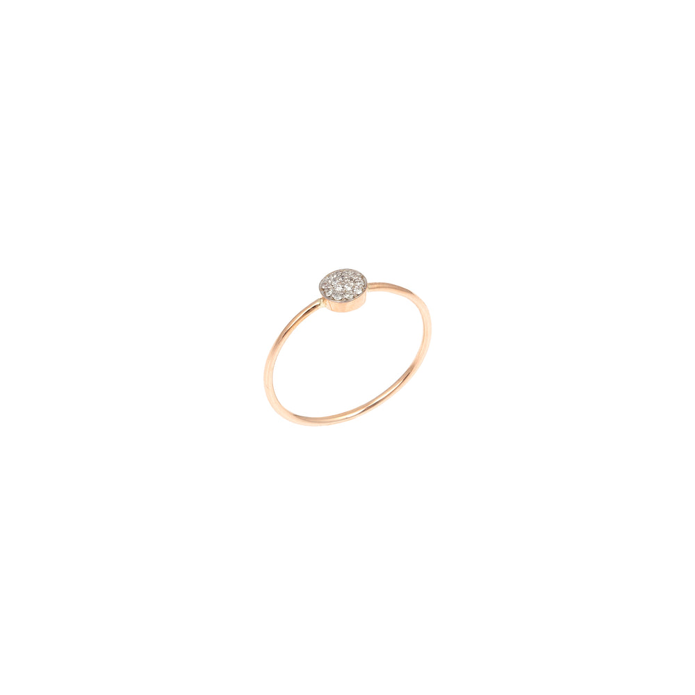 Bidik Disc Ring - White Diamond