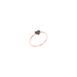 Bidik Heart Ring - Black Diamond