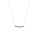 Lumiere Diamond Bar Necklace (Small) - Sapphire