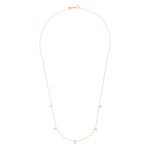 Beads 5 Solitaire Necklace - White Diamond