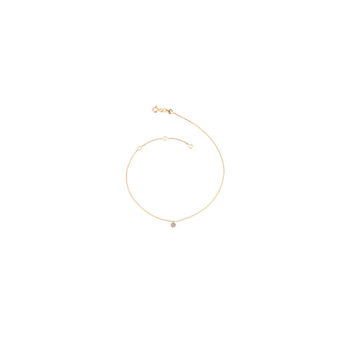 Circle Diamond Anklet